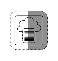 figure cloud notebook network icon vector image