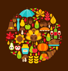 Flat thanksgiving day concept vector