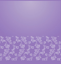 floral ornament border vector image