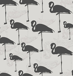 graphical seamless pattern with different vector image
