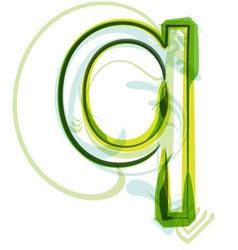 Green letter Q vector image
