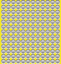 grey abstract circular mosaic on yellow background vector image
