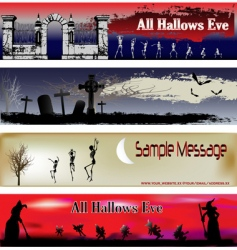 Halloween web banner templates vector image