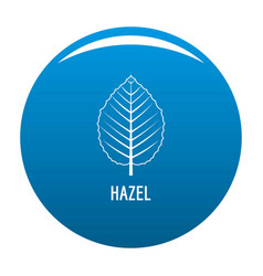 Hazel leaf icon blue vector