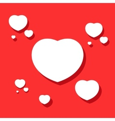 Hearts on valentines day vector