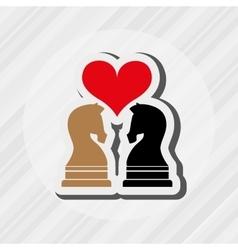 Horse chess design vector