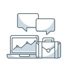 Laptop computer technology icon vector