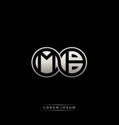 Mb initial letter linked circle capital monogram vector