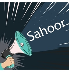 megaphone speaker alert for sahoor or sahur sketch vector image
