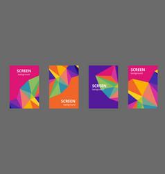 multicolor polygonal which consist vector image
