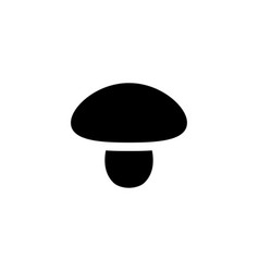 mushroom vegetable icon vector image