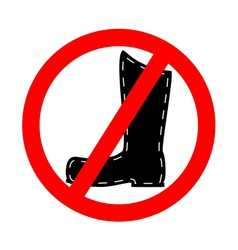 No leather boots vector