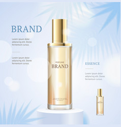 Realistic 3d detailed skin toner ads concept vector