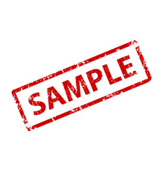 sample sign sticker stamp texture vector image