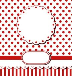 Scrap greeting card vector