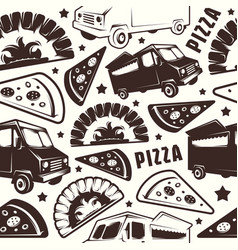 seamless pattern for pizza delivery vector image