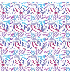 Seamless pattern with colorful line textures hand vector