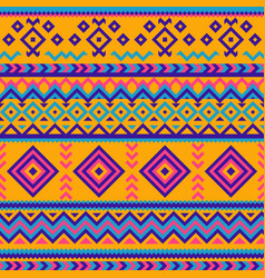 Seamless pattern with geometric ornaments mexican vector