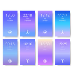 Set of modern user interface ux ui screen vector