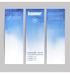 Set of three watercolor banners vector