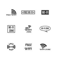 set wireless icons vector image