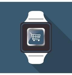 Smart watch and media app design vector image