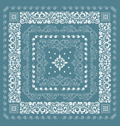 square frame template bandana with vintage vector image