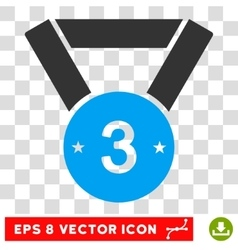 Third medal eps icon vector