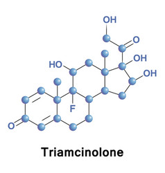 triamcinolone synthetic glucocorticoid vector image