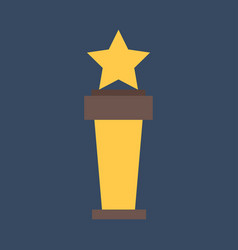 trophy cup flat icons gold winner cup best vector image
