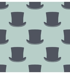 Vintage cylinder hat seamless pattern vector