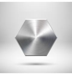Abstract polygon Button Template vector image vector image