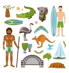 Australia Icons Set vector image