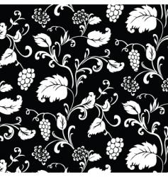 grape pattern vector image vector image