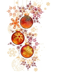 Pretty trendy with hanging Christmas balls and vector image vector image
