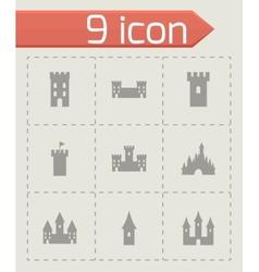 castle icon set vector image