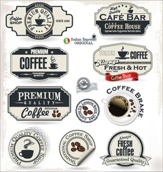 Coffee labels and badges vector image