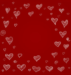 Hearts background freehand drawing vector