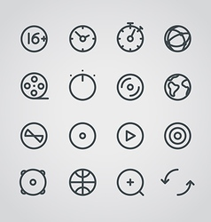 Modern media web icons collection vector image vector image