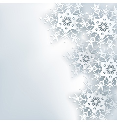 Stylish creative abstract background 3d snowflake vector image
