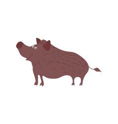 wild boar personage vector image