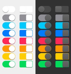 Colorful Switchers vector image vector image