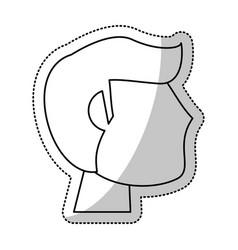 head man groom wedding outline vector image