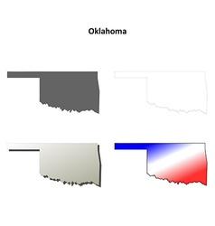 Oklahoma outline map set vector image vector image