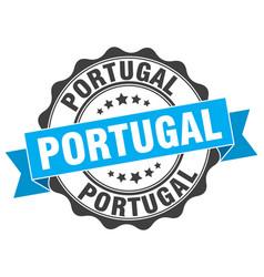 portugal round ribbon seal vector image vector image