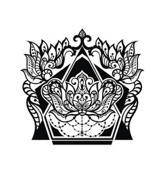 lotus tattoo design vector image