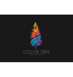 Tree logo Creative logo Nature logo Color tree vector image
