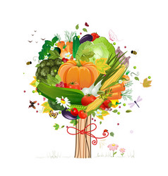 vegetable tree vector image vector image