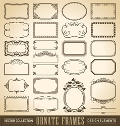 vintage ornate borders set of 24 vector image vector image