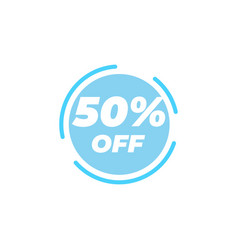 50 percent off sale label design template vector image